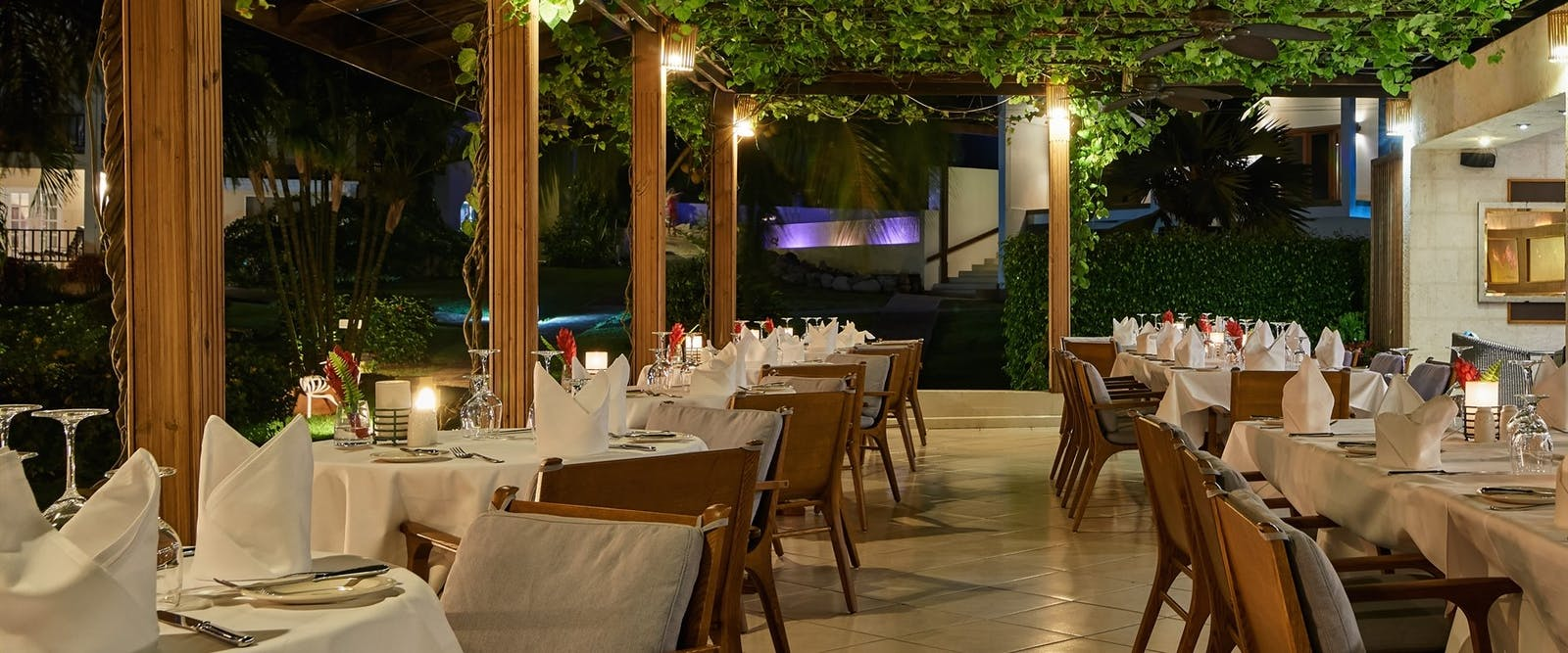 Beautiful Rhodes Restaurant at Calabash Villa, Grenada