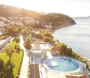 Aerial view of Sun Gardens, Croatia