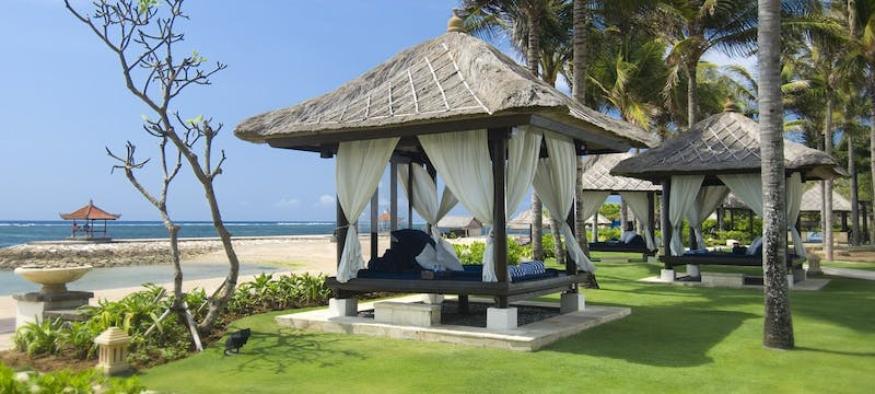 Beach area at Conrad Bali Resort & Spa