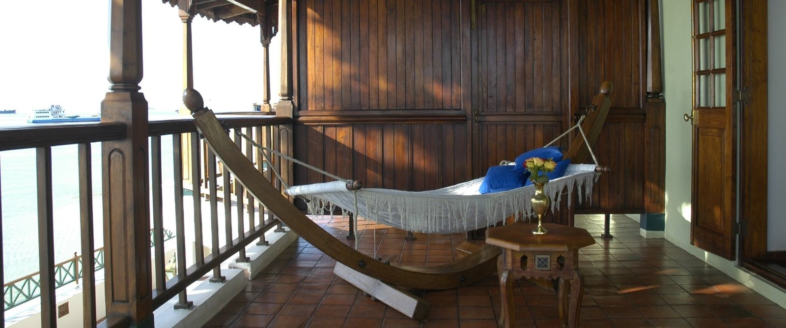 Balcony of honeymoon suite at Zanzibar Serena Hotel