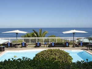 Pool area at Blue Margouillat Seaview Hotel, Reunion Island