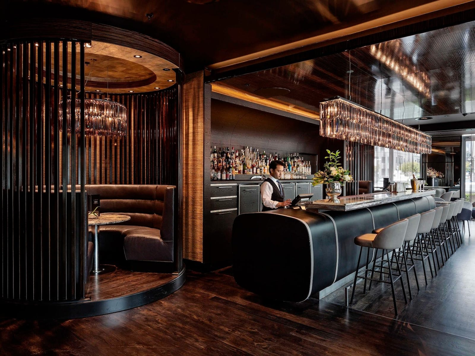 sabrage champagne bar at sofitel auckland viaduct harbour auckland
