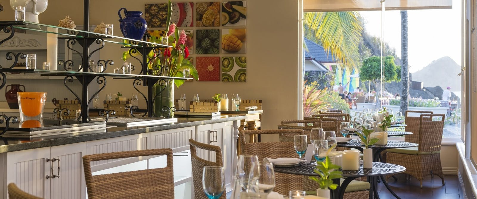 Restaurant at BodyHoliday, St Lucia