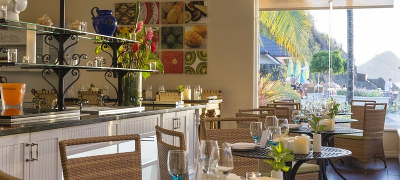 Ocean view dining at BodyHoliday, St Lucia