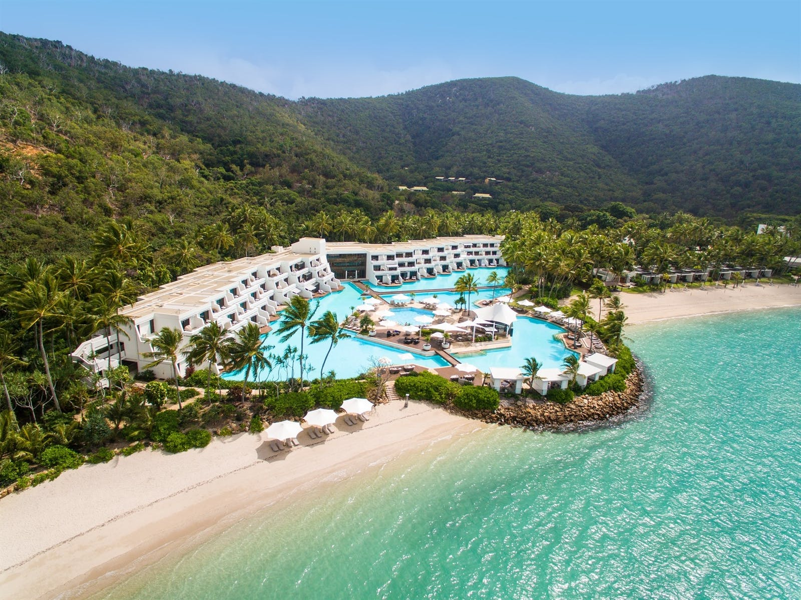 Aerial of InterContinental Hayman Island Resort, Great Barrier Reef Islands