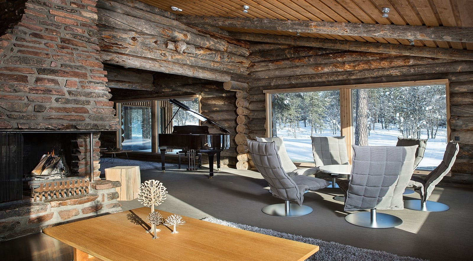 Lounge, Javri Lodge, Finland