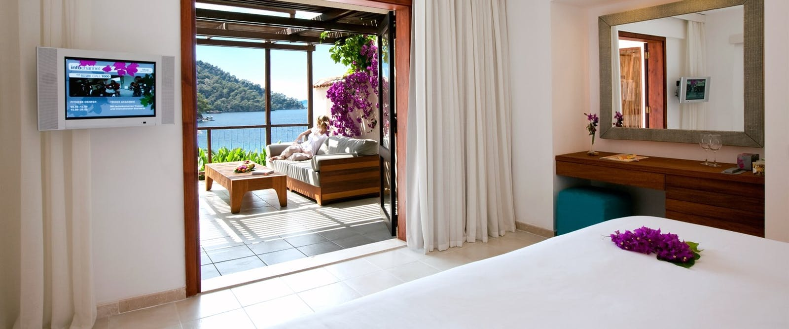 Guest Bedroom at Hillside Beach Club, Fethiye, Turkey