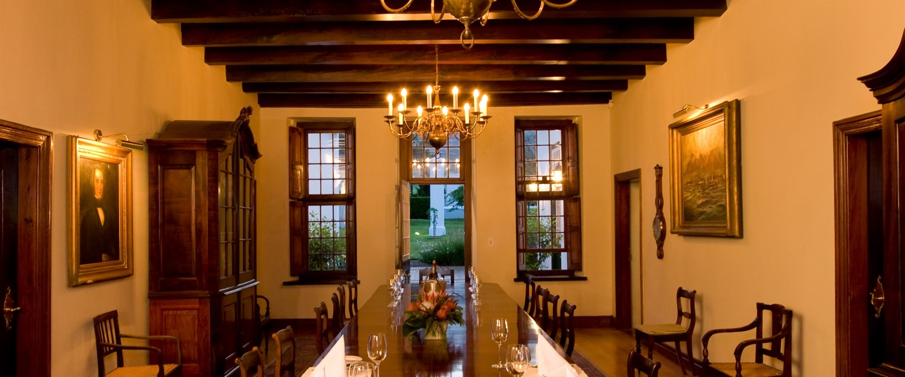 Manor house foyer at Steenberg Hotel