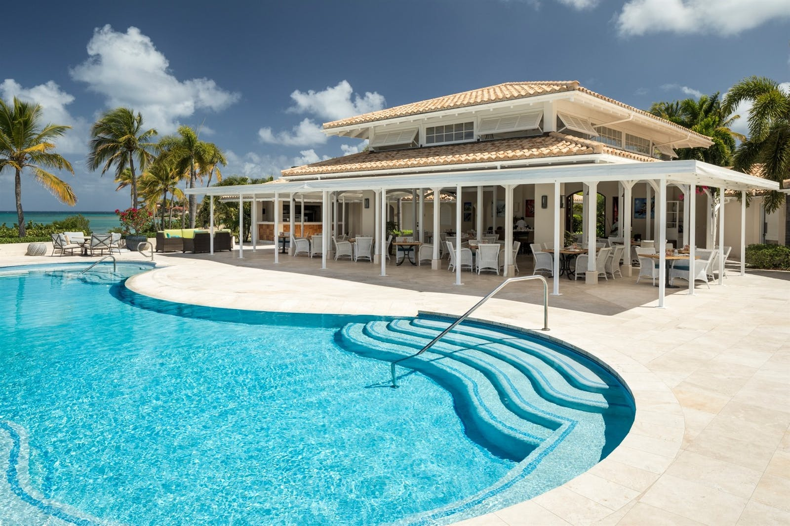 Pool Grille at Jumby Bay Island, Antigua, Caribbean