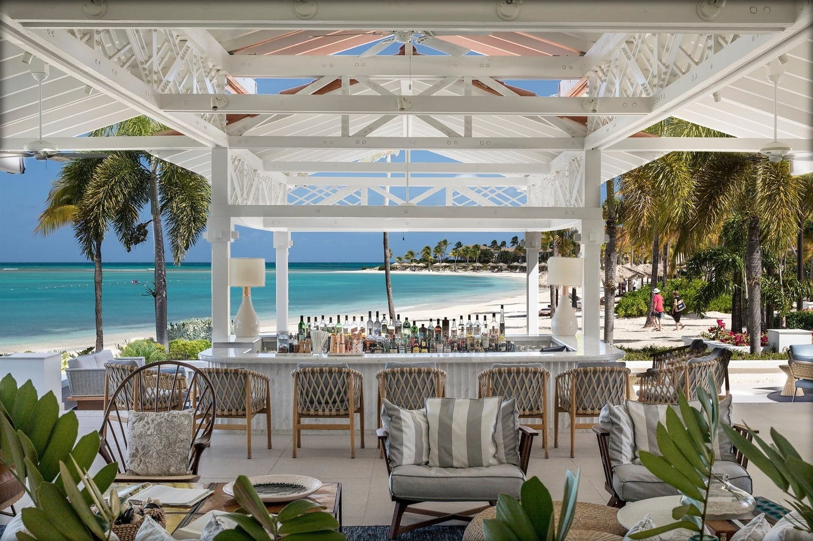 Veranda Bar at Jumby Bay Island, Antigua, Caribbean