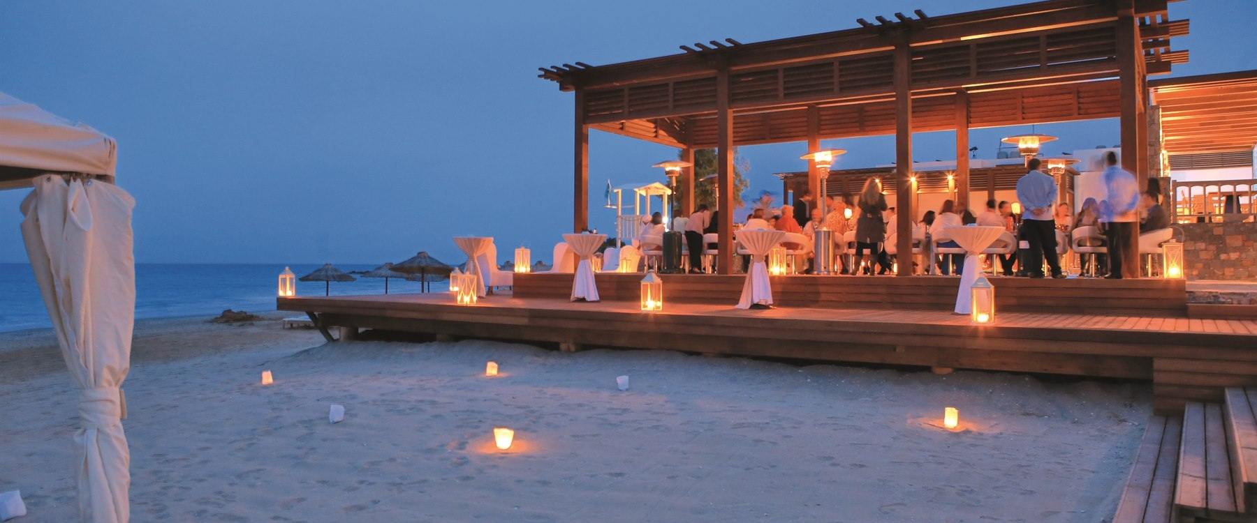 Beach Bar and Sunset Lounge at Amirandes Grecotel Exclusive Resort, Crete, Greece