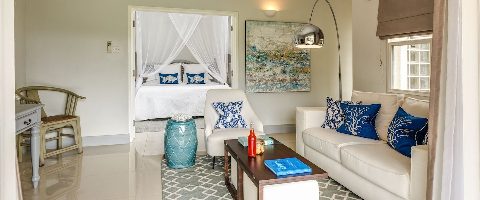 Living room area in Deluxe Suite at Calabash Luxury Boutique Hotel & Spa, Grenada