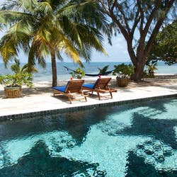 Swimming pool, Turtle Inn, Belize