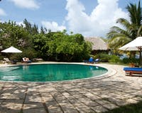 swimming pool area, Turtle Inn, Belize