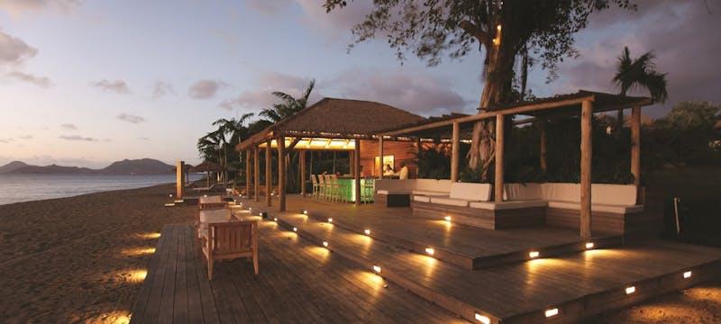 Ocean-side bar at Paradise Beach, Nevis