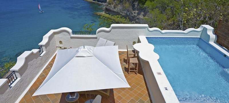 Ocean View Villa Suite with Pool and Roof Terrace at Cap Maison, St Lucia