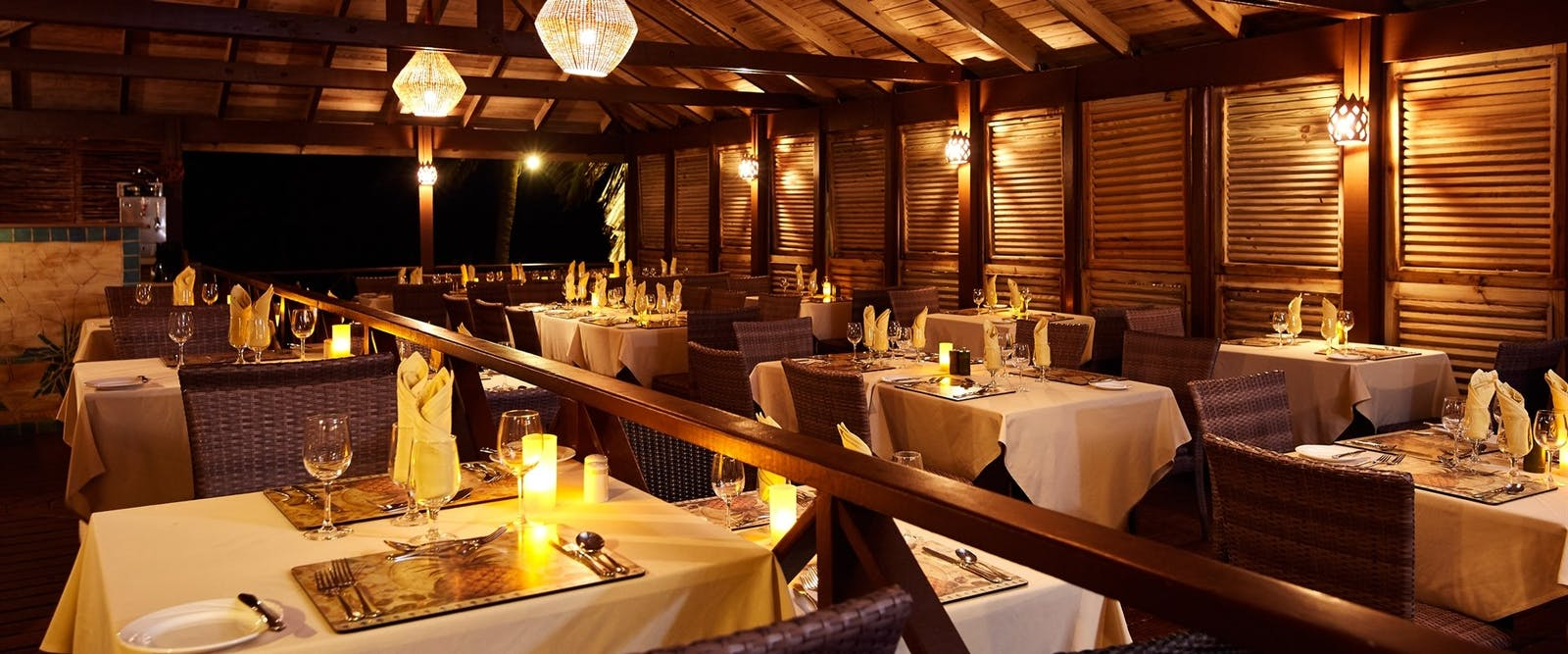 Elegant Evening Dining at Nisbet Plantation Beach Club, Nevis