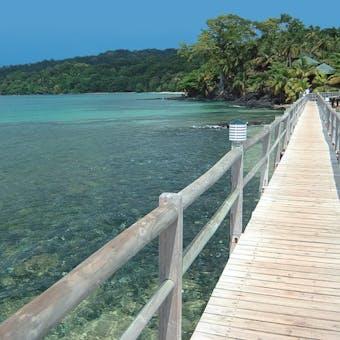Bridge to Bom Bom Island Resort