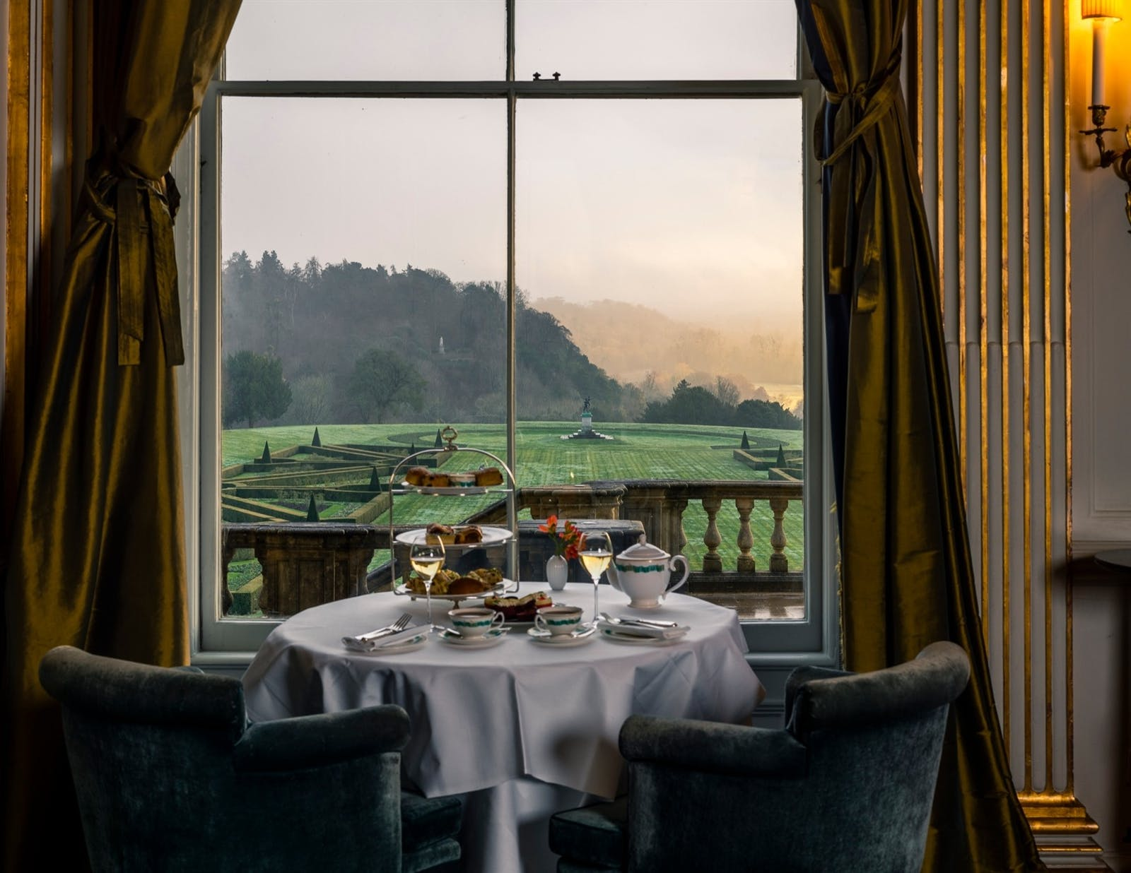 Dining at Cliveden Taplow, Berkshire, England
