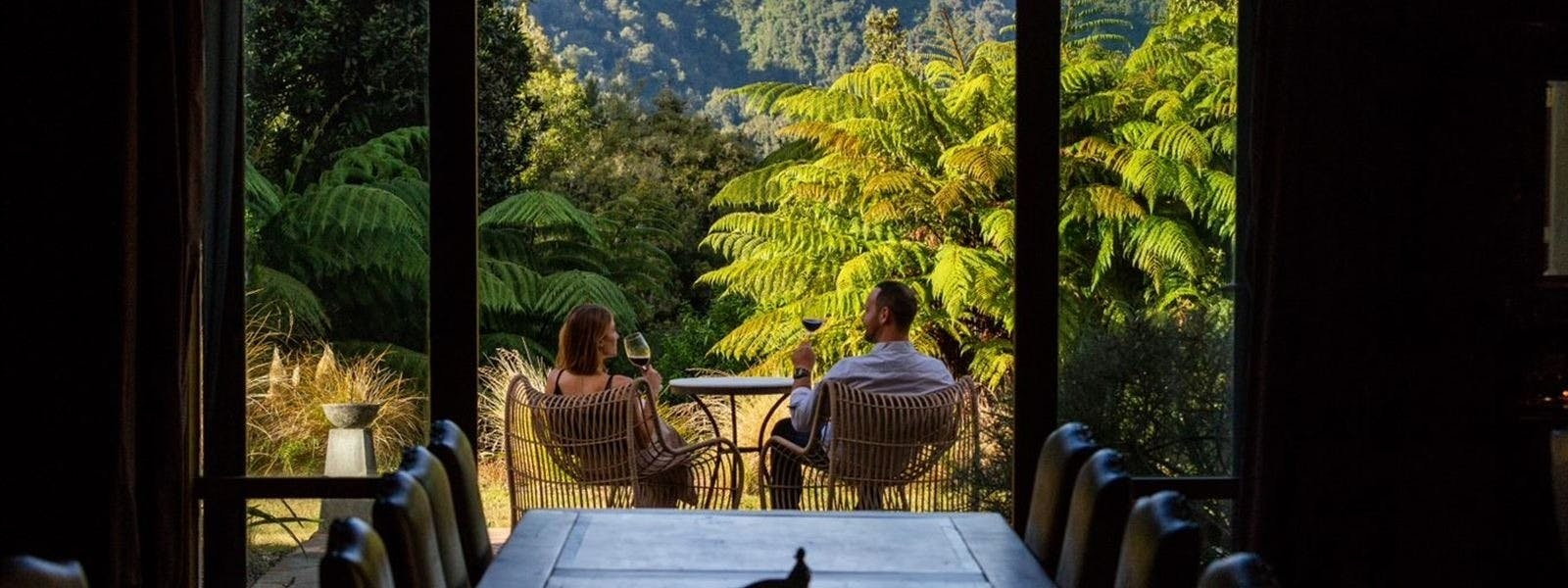 Room Terrace at Treetops Lodge Rotorua