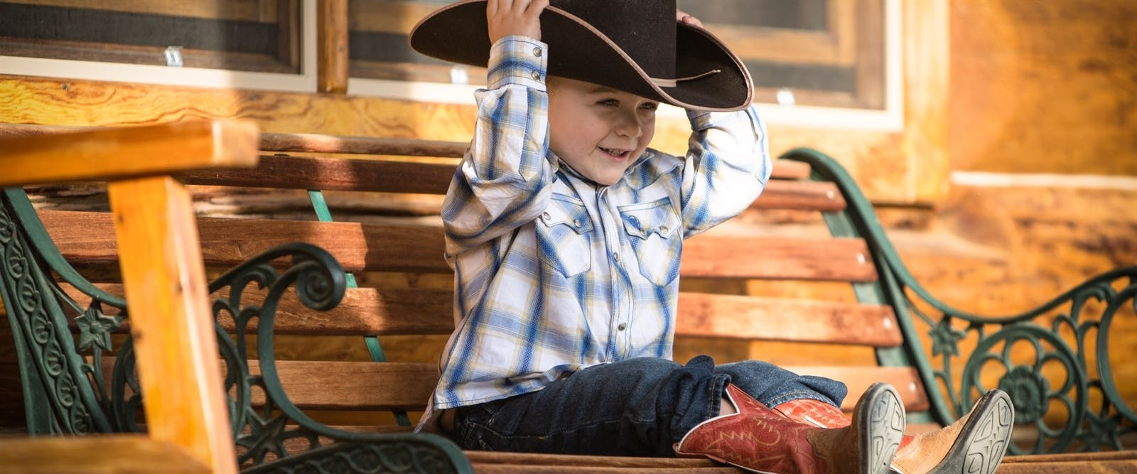 mini cowboys at three bars guest ranch