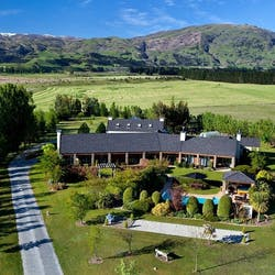 exterior of Lime Tree Lodge Wanaka, South Island, New Zealand