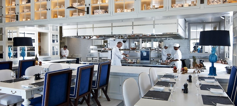 Dine in Romeo's kitchen at Pink Sands Club