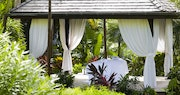 Enjoy a spa treatment amongst the beautiful garden at Cheval Blanc St Barth Isle de France