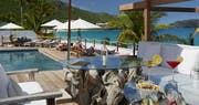 Enjoy a drink overlooking the ocean at Cheval Blanc St Barth Isle de France