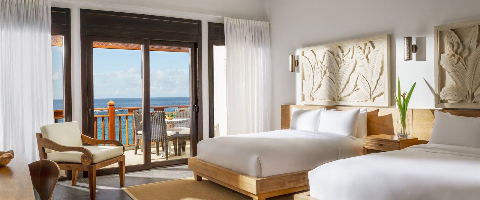 Premium Double Bedroom with Ocean Ciew at Zemi Beach House, Anguilla