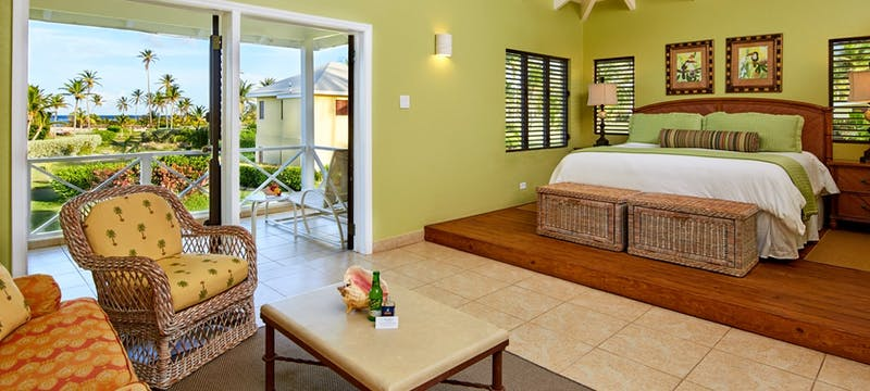 Upper premier junior suite at Nisbet Plantation Beach Club, Nevis