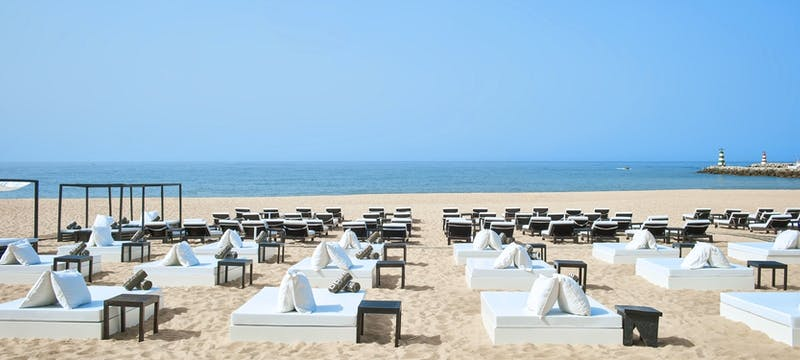 The beach area at Hotel Anantara Vilamoura