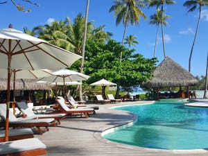 Main Pool at Le Taha'a Island Resort & Spa, Tahiti, French Polynesia