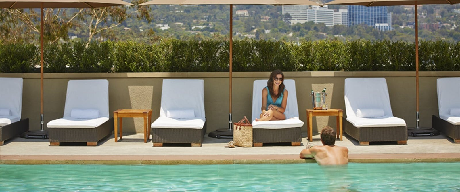 Pool at Viceroy L'Ermitage Beverly Hills