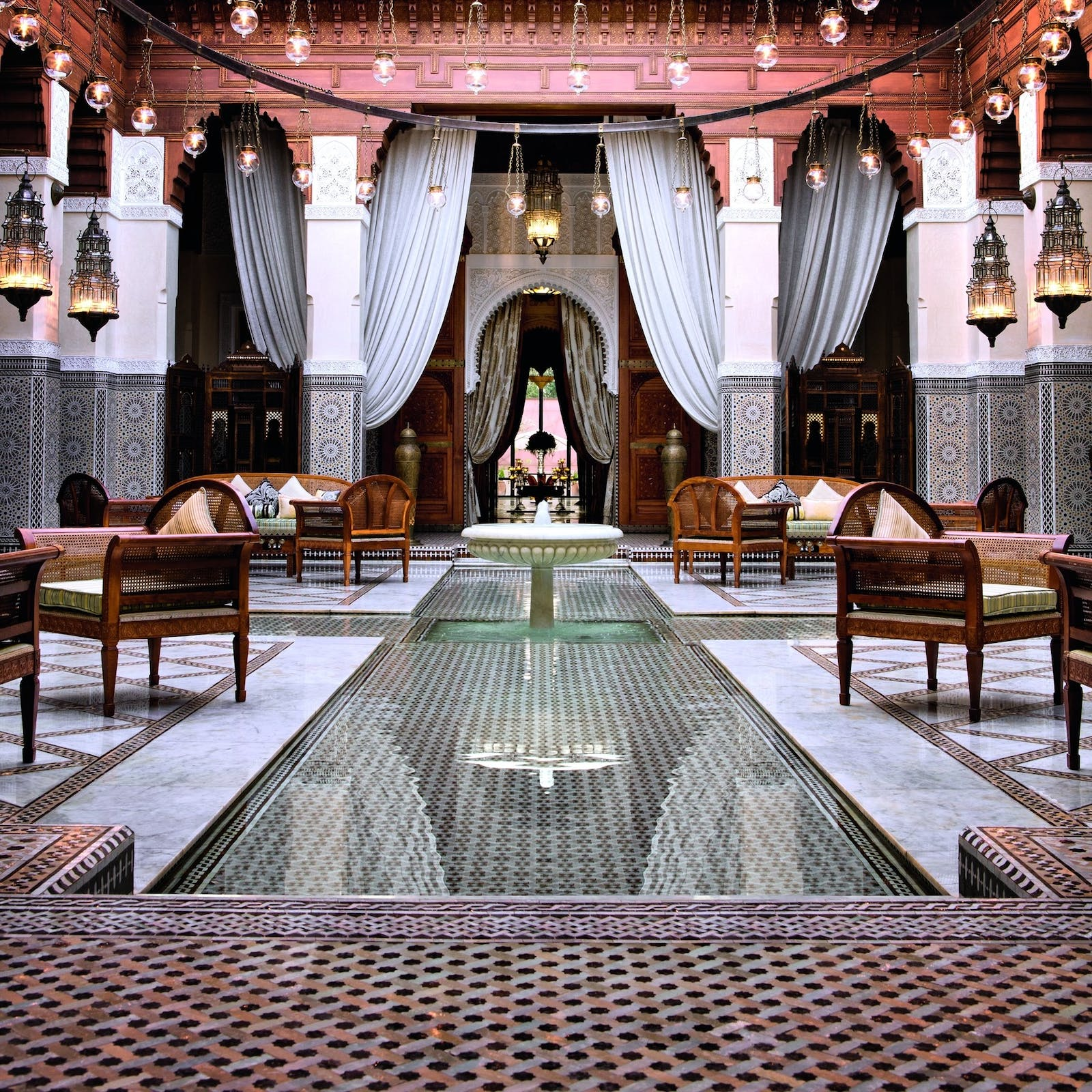 Moroccan interiors at Royal Mansour, Marrakech