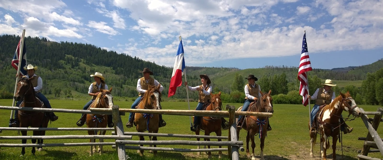 Flag-bearing At Goosewing Ranch