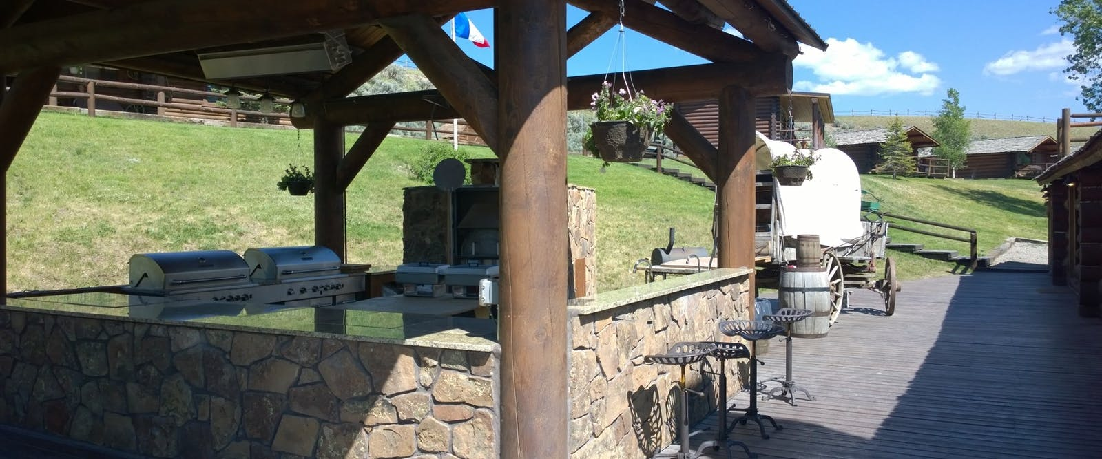 BBQ/Grill Area At Goosewing Ranch