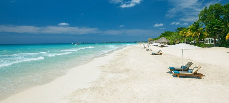 Beautiful beach at Beaches Negril Resort & Spa