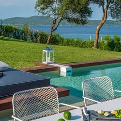 Presidential Suite with Double Private Pool at Avaton Luxury Villas Resort, Halkidiki, Greece