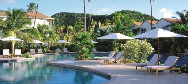 Pool side exterior at Carlisle Bay, Antigua