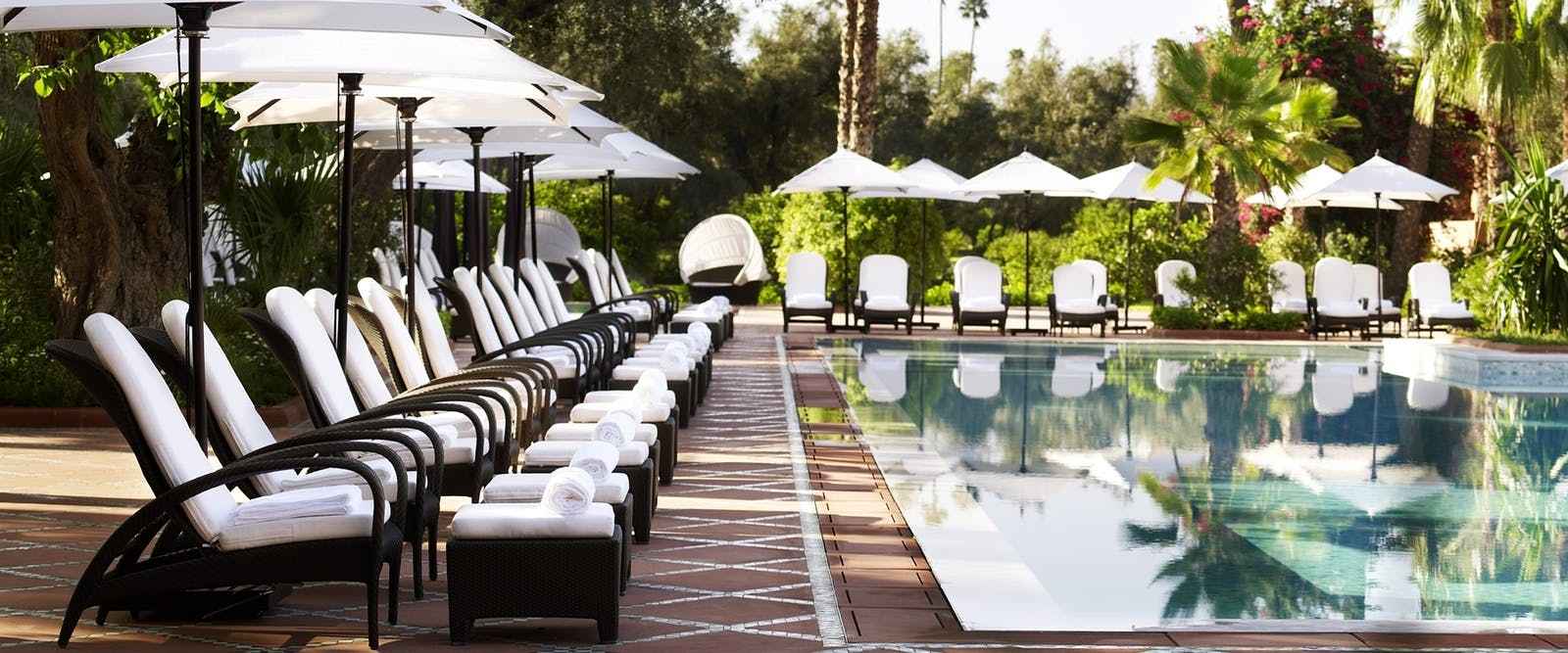 Swimming Pool at La Mamounia, Marrakech, Morocco