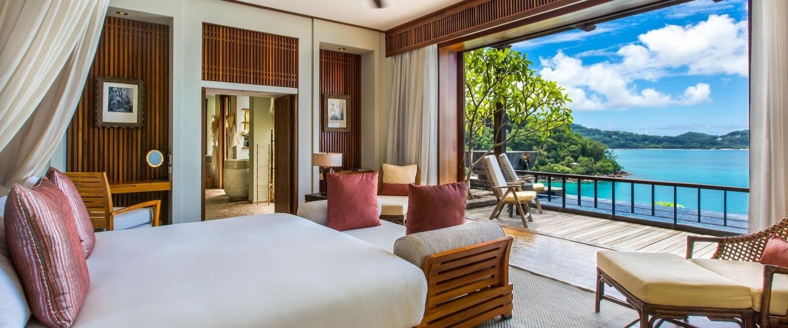 Ocean Panoramic Villa Bedroom at Maia Luxury Resort & Spa, Seychelles
