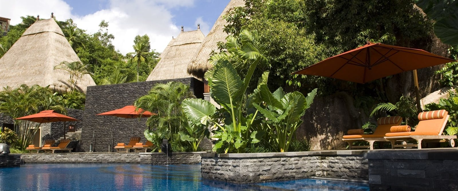 Main Swimming Pool at Maia Luxury Resort & Spa, Seychelles