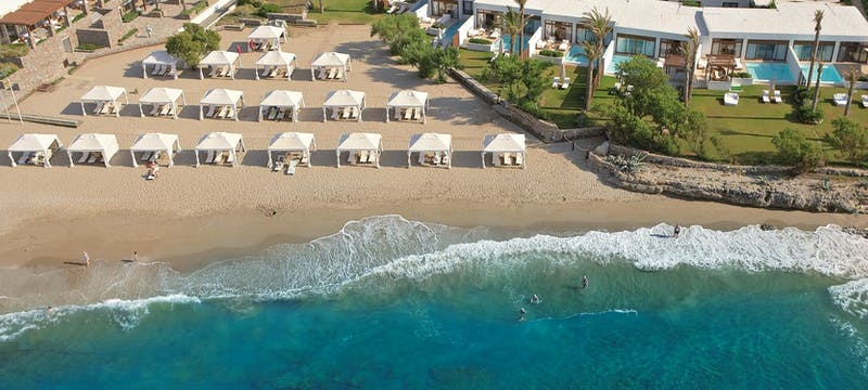 Villas on the beach at Amirandes Grecotel Exclusive Resort, Crete, Greece