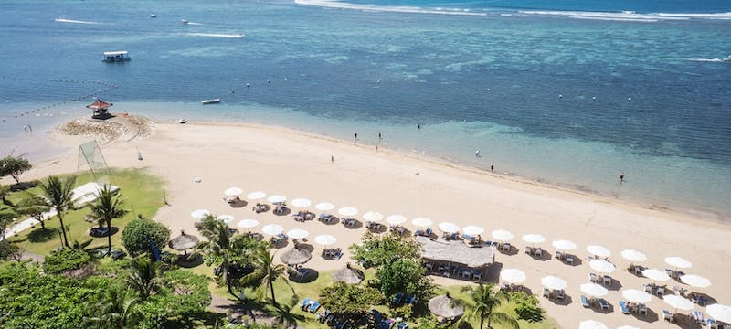 Beach area at Grand Mirage Resort and Thalasso Bali