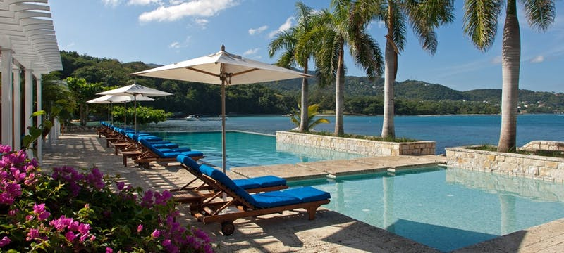 Pool area at Round Hill, Jamaica