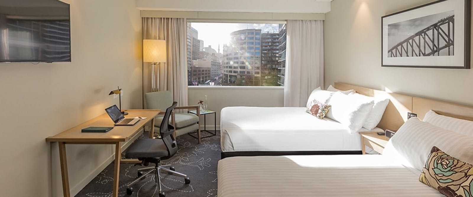 Superior twin room at Parkroyal Darling Harbour, Australia