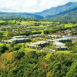 aerial view of westin princeville ocean resort