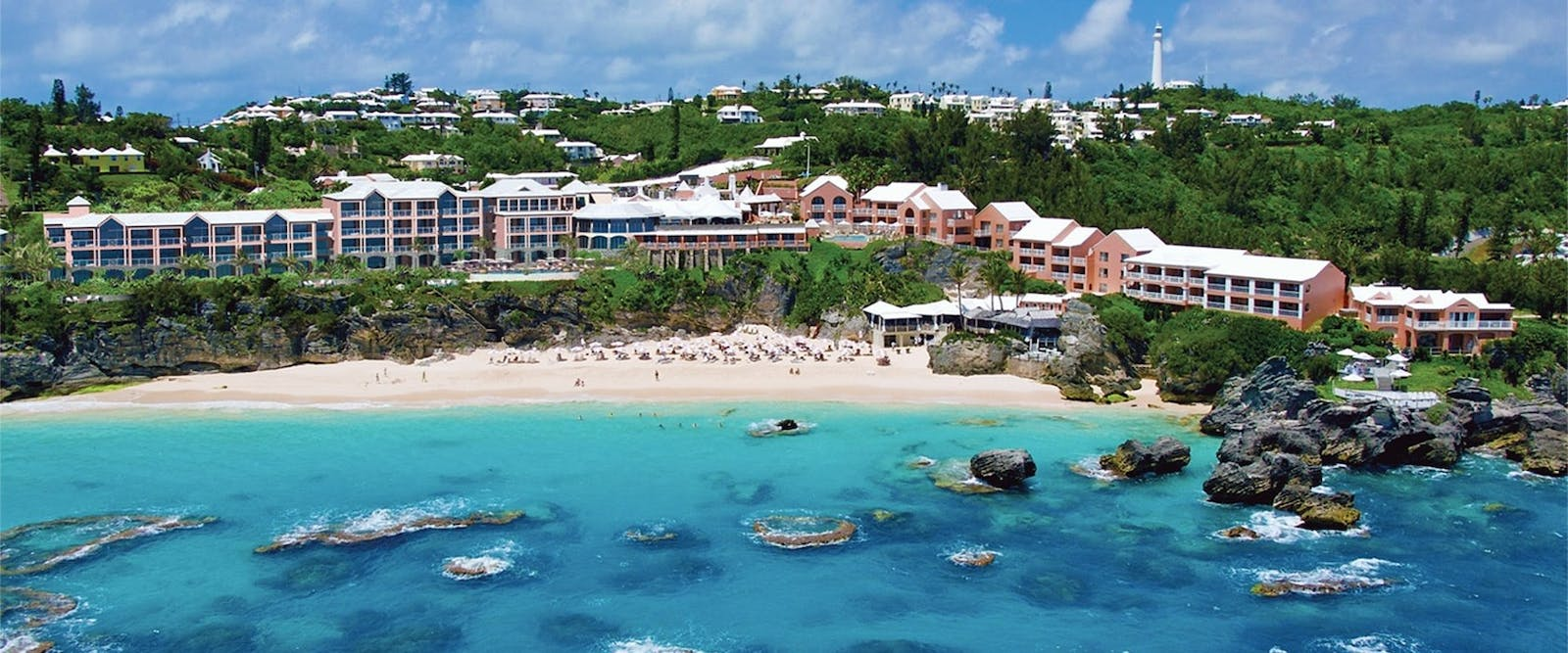 Aerial View of The Reefs Hotel & Club, Bermuda