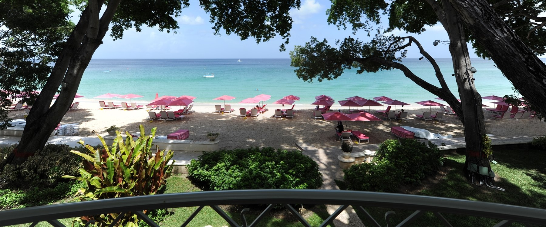 Beach from Balcony at Sandy Lane, Barbados